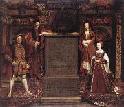 Leemput, Remigius van Henry VII, Elizabeth of York, Henry VIII, and Jane Seymour oil